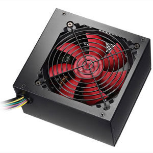 Alpine 600w PFC PSU 120mm Red Fan 24 Pin 2 X Sata